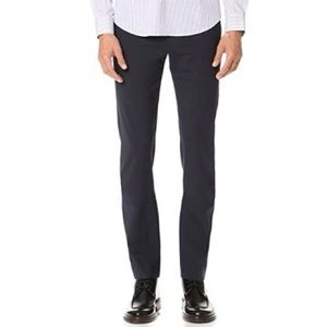 Theory Jake W Osorno Wool Trousers in Navy